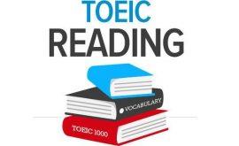 Khóa học luyện thi Toeic Reading